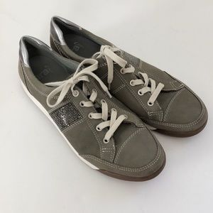 ara Rickie Nubuck Leather Sneakers